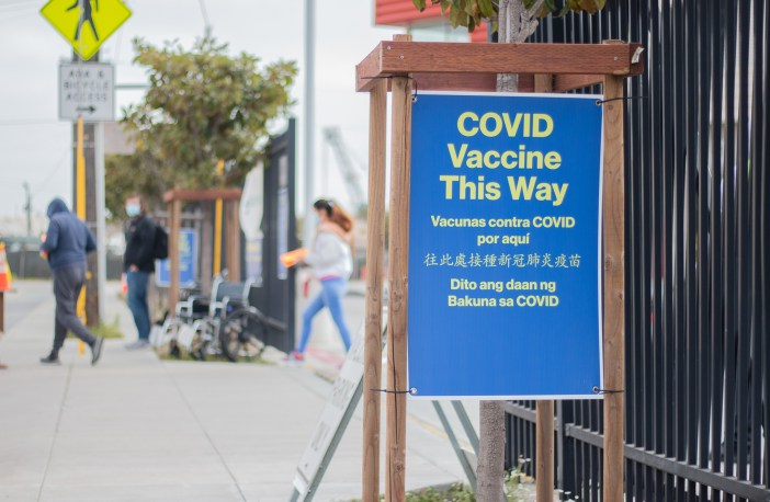 Photo of Bayview Produce Market Vaccination Sign