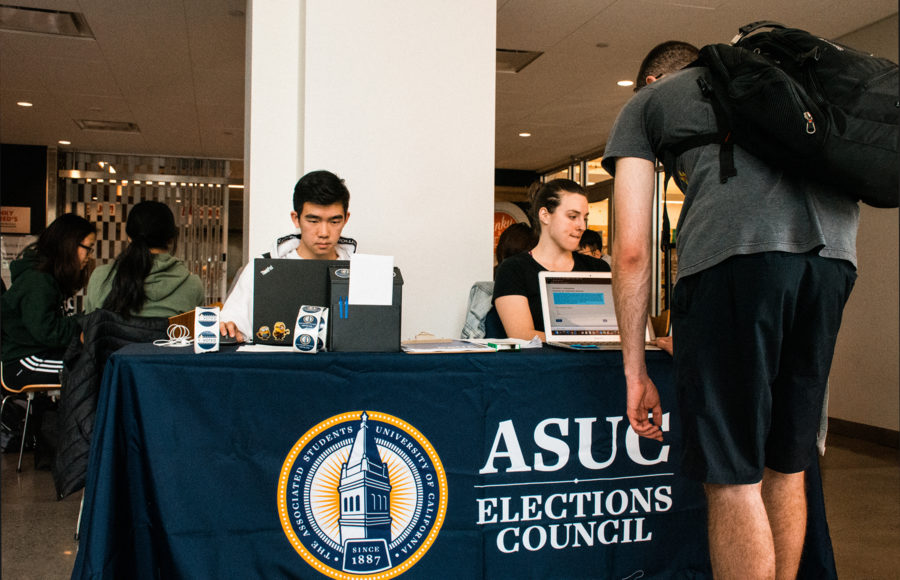 Photo of ASUC Elections table