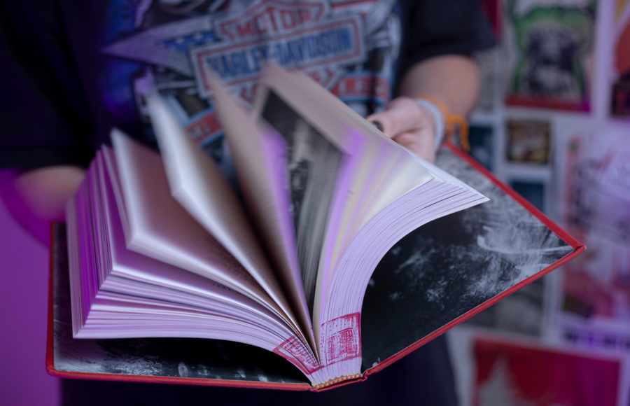 photo of someone flipping through a book
