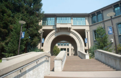 Photo of Haas buildings on UC Berkeley Campus