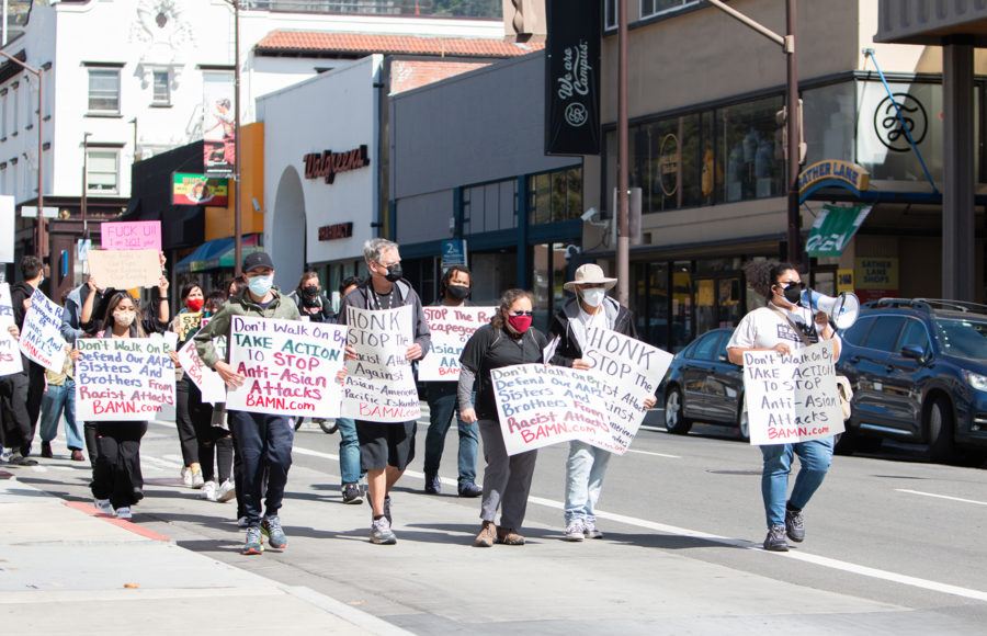 photo of stop Asian hate rally in the streets of Berkeley