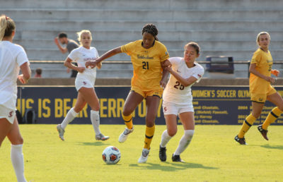 Photo of a Cal Women's Soccer game