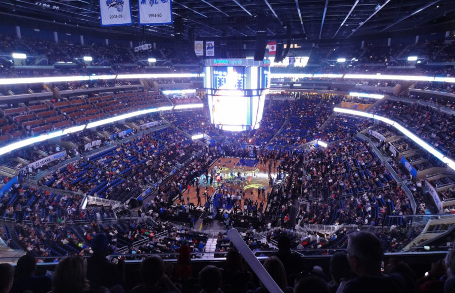 photo of the inside of a basketball stadium