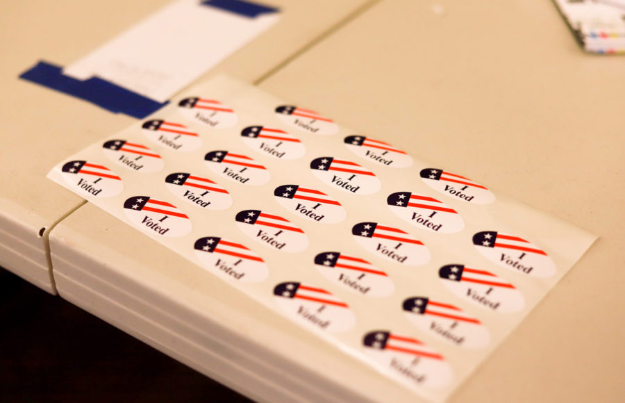 Photo of 'I Voted' stickers