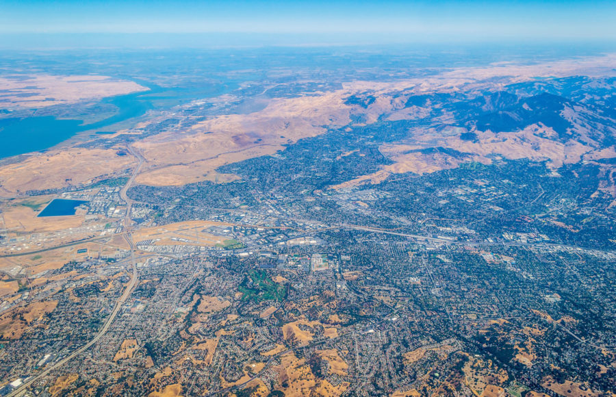 photo of California's landscape during a drought