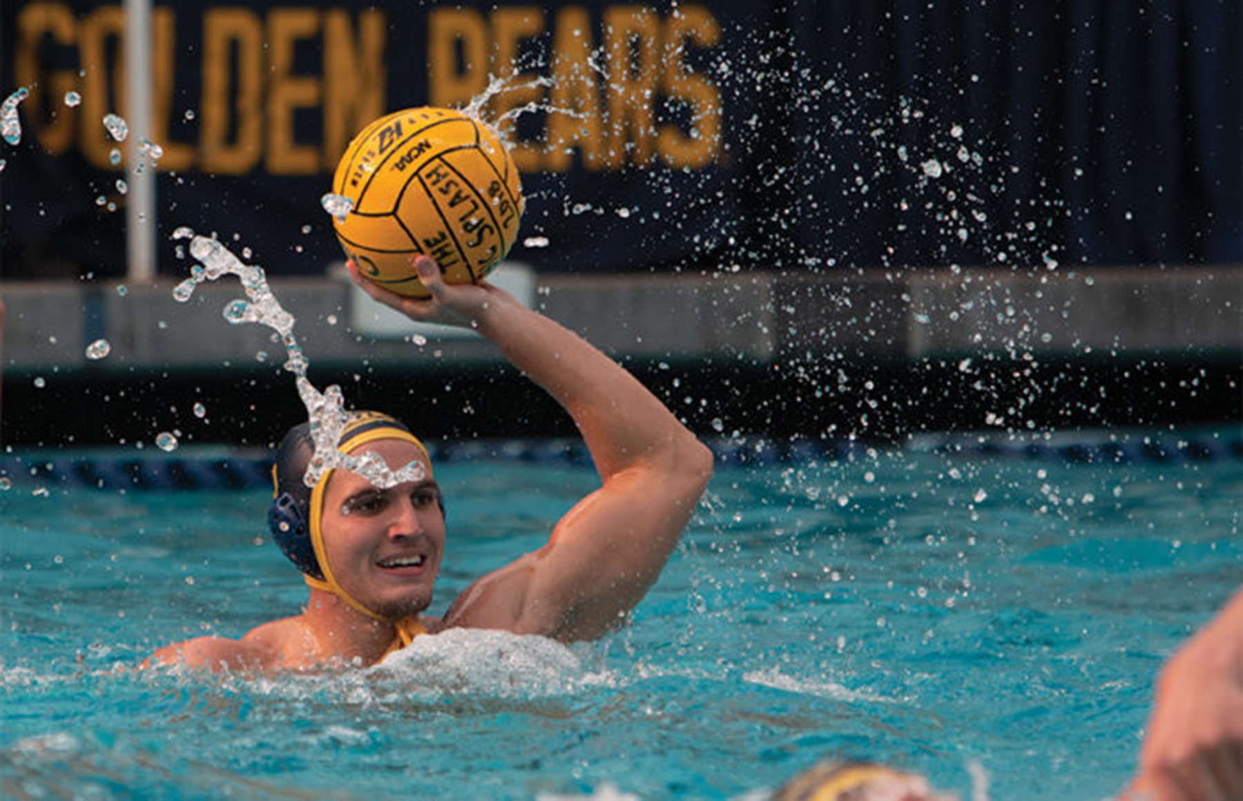 photo of a Cal Golden Bears water polo player