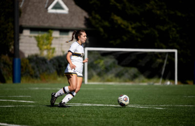 photo of a Cal women's soccer player