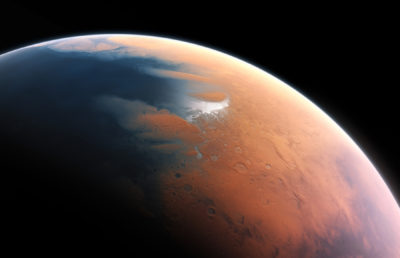 photo of Mars from space