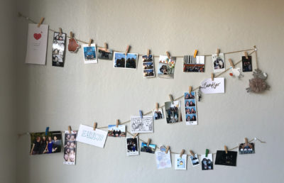 photo of a wall collage of photos