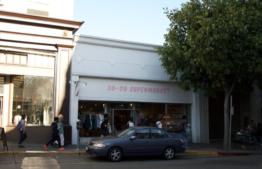 photo of the newly opened So-So Supermarket store