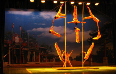 photo of a Chinese pole dance