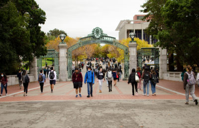 photo of students walking on Sproul