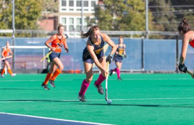 Photo of cal Field Hockey player on the field