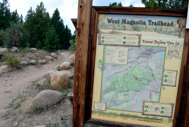 The trailhead at West Magnolia outside ...