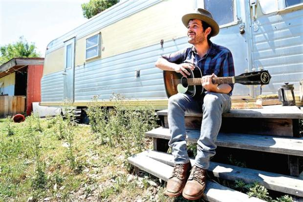 Gregory Alan Isakov on his farm ...