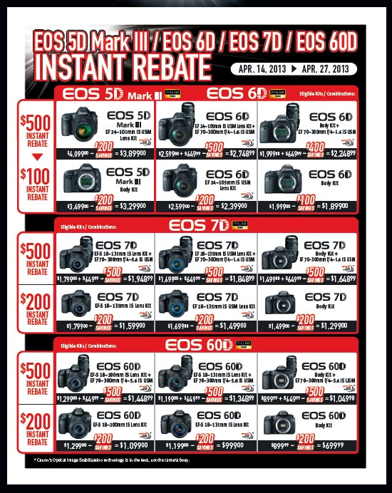 canon usa and uk rebate program