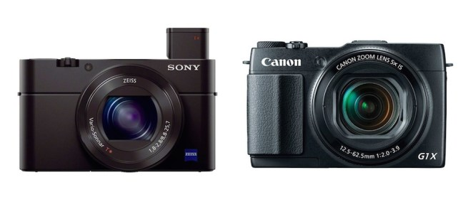 sony rx100 m3 vs canon g1 x mark ii