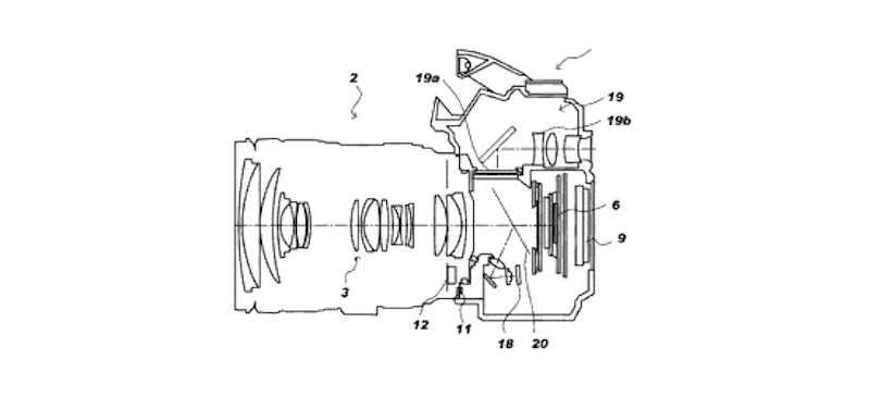 Canon Patent for Camera System with Translucent Mirror and