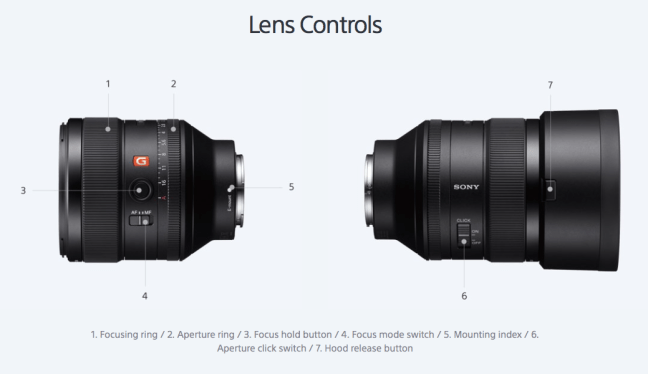 sony-fe-85mm-f-1.4-gm-lens-controls