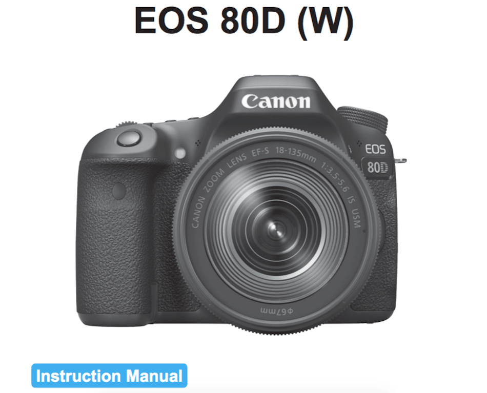 canon eos 1000d instruction manual download