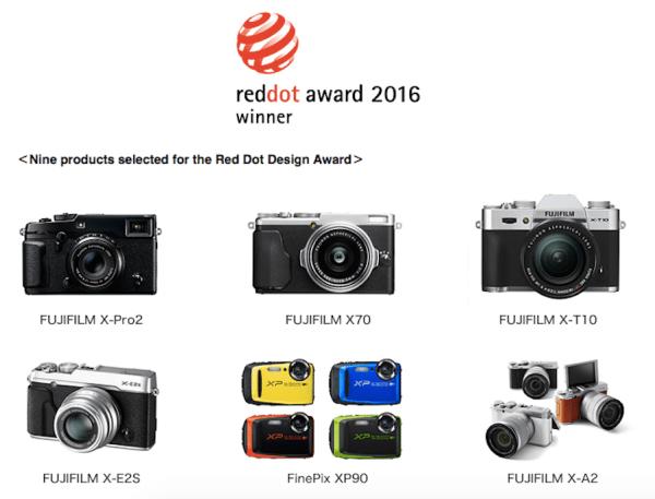 fujifilm-receives-nine-2016-red-dot-product-design-awards