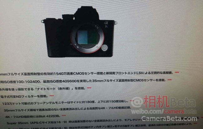 First Sony A7SIII specs leaked online