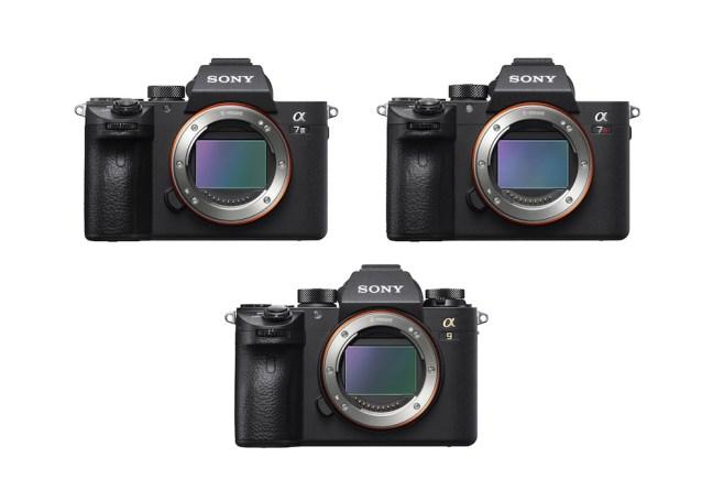 Sony a7 III vs Sony a9 vs Sony a7R III - Comparison