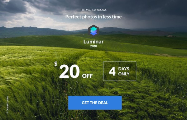 Luminar 2018 Flash Sale, The Lowest Price Ever – $49