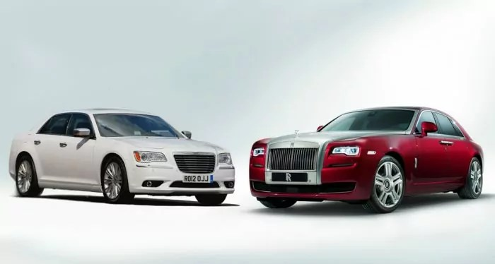Look A Likes Chrysler 300C Vs Rolls Royce Ghost