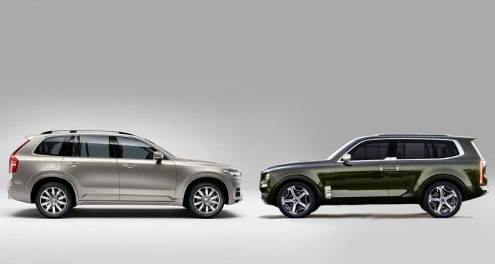 Look A Likes Volvo Xc90 Vs Kia Telluride Concept
