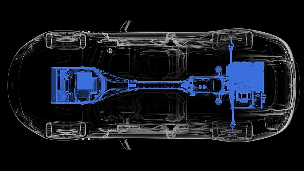 Aston Martin Rapide E, powertrain map, Dailycarblog.com