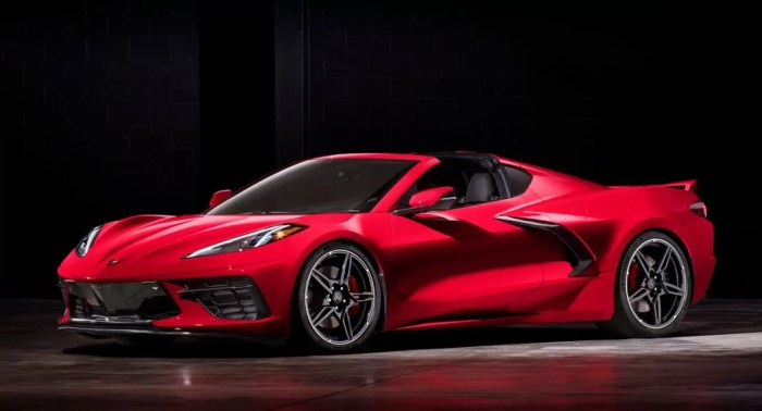 2020 Corvette C8 roofless