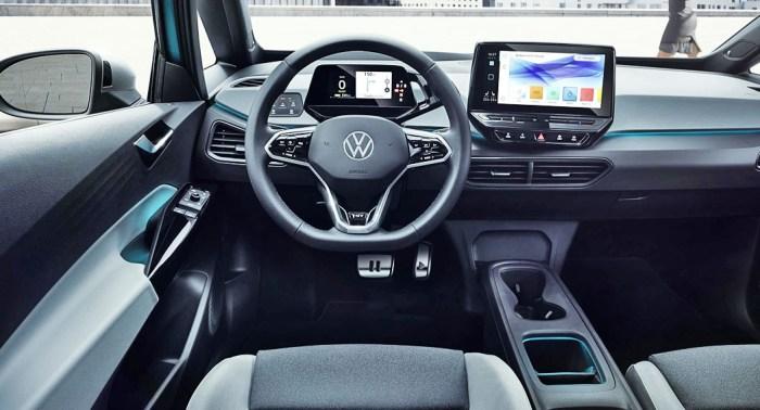 VW ID3 interior dailycarblog.com