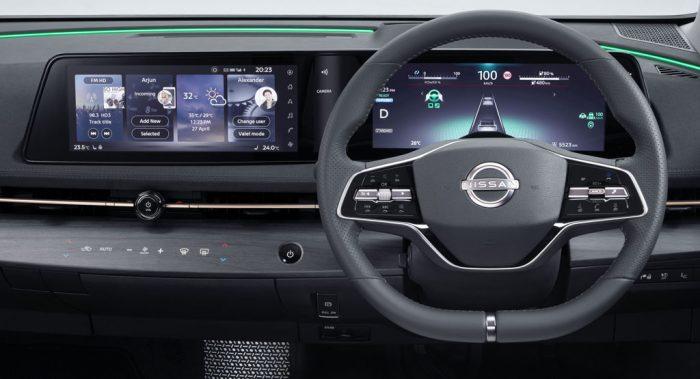 The Nissan Ayria EV, interior, dailycarblog