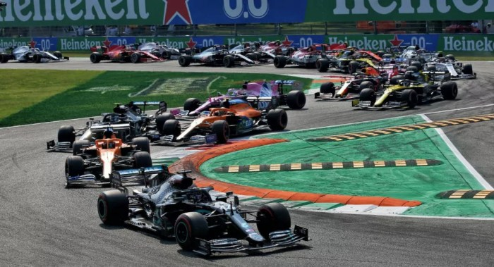 2020 Italian Grand Prix start Race Report Dailycarblog