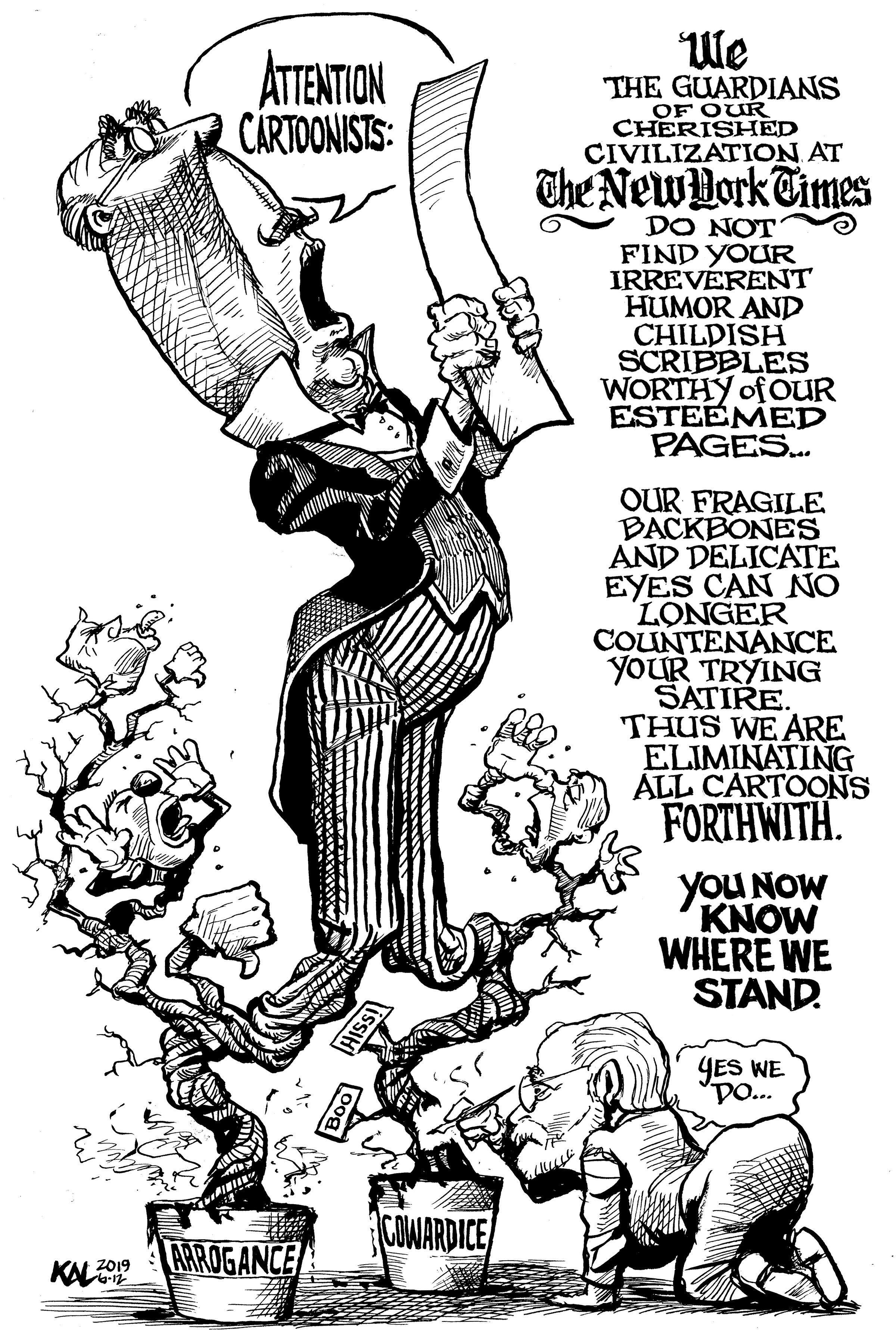 Cartoonists React To New York Times Cartoon Ban The Daily Cartoonist
