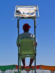 lifeguard in the pool