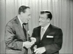 """Screen capture from the Internet Archive, taken from """"This Is Your Life Lou Costello"""". Around the 00:48 mark. (Photo credit: Wikipedia)"""