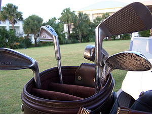 Golf clubs - Image via Wikipedia