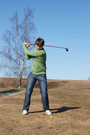 Golfer in Yyteri Golf Links. (Photo credit: Wikipedia)