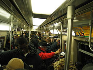 NYCSub 7 car interior (Photo credit: Wikipedia)