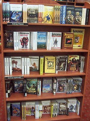 Novels in a Polish bookstore (Photo credit: Wikipedia)