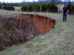 Sinkhole on the family farm (Photo credit: mollyjolly)