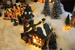 English: Department 56 collectibles at the San...