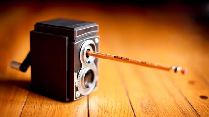 Vintage Camera Pencil Sharpener