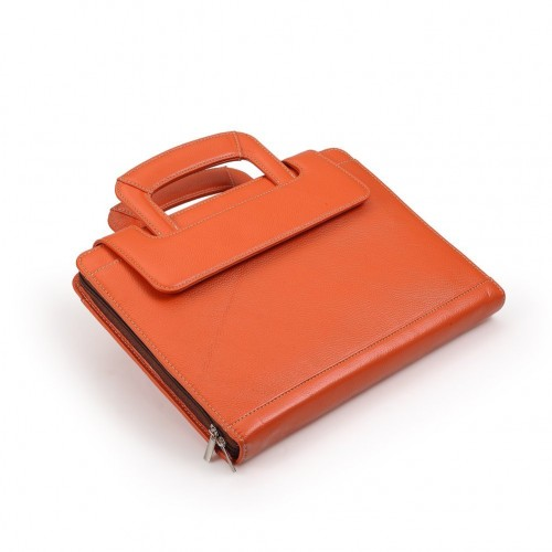 Compact Leather Briefcase