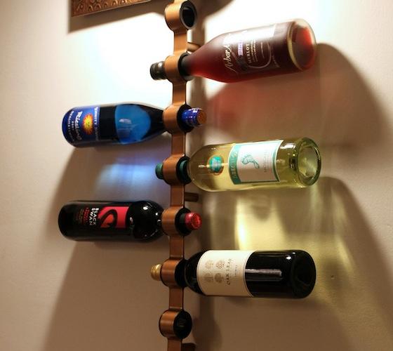 Mounted Wine Bottle Holder