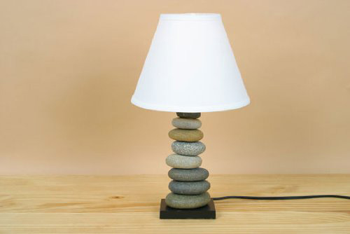 Stone Cairn Table Lamp