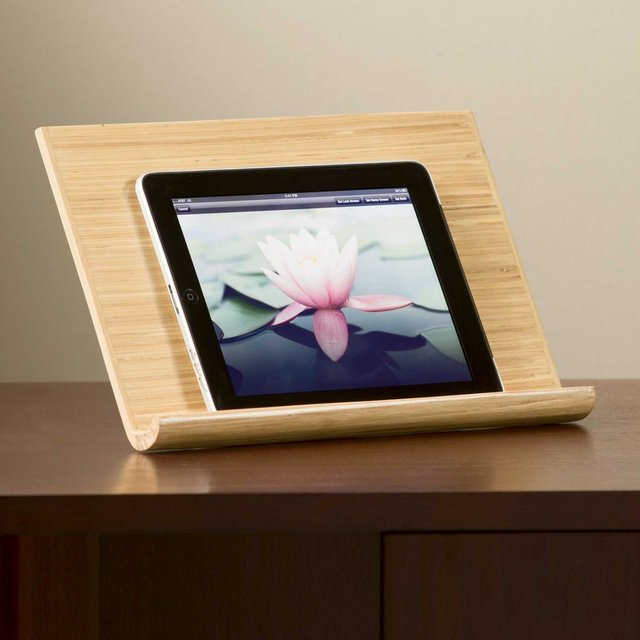 Handmade Bamboo iPad Stand