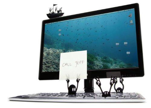 Keyboard Pirates Reminder Memo Note Holders